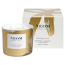 Buy Neom Christmas Wish 3 Wick Organic Candle Online at johnlewis.com