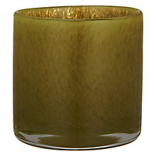Buy John Lewis Glass Tealight Holder, Olive Online at johnlewis.com
