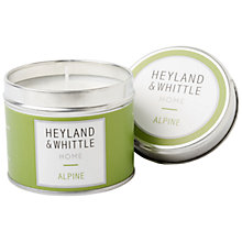 Buy Heyland & Whittle Alpine Travel Candle, 180g Online at johnlewis.com