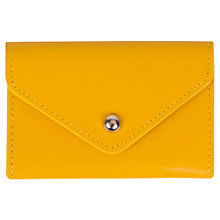 Buy Paper Thinks Recycled Leather Card Holder, Yellow Gold Online at johnlewis.com