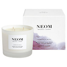 Buy Neom Complete Bliss 3 Wick Candle, 420g Online at johnlewis.com