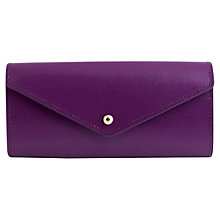 Buy Paper Thinks Recycled Leather Envelope Wallet, Purple Online at johnlewis.com