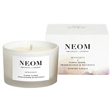 Buy Neom Sensuous Travel Candle, 75g Online at johnlewis.com