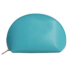 Buy Paper Thinks Recycled Leather Cosmetic Pouch, Turquoise Online at johnlewis.com