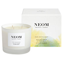 Buy Neom Feel Refreshed 3 Wick Candle, 420g Online at johnlewis.com