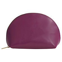 Buy Paper Thinks Recycled Leather Cosmetic Pouch, Purple Online at johnlewis.com