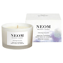 Buy Neom Tranquillity Travel Candle, 75g Online at johnlewis.com