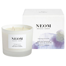 Buy Neom Tranquillity 3 Wick Candle, 420g Online at johnlewis.com