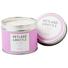 Buy Heyland & Whittle Rose Travel Candle, 180g Online at johnlewis.com