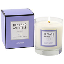 Buy Heyland & Whittle Lavender Candle, 220g Online at johnlewis.com
