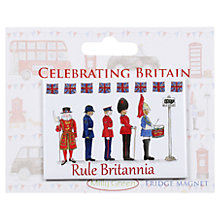Buy Milly Green Rule Britainia Fridge Magnet Online at johnlewis.com