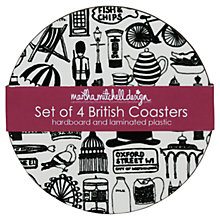 Buy Martha Mitchell British Coasters, Set of 4 Online at johnlewis.com