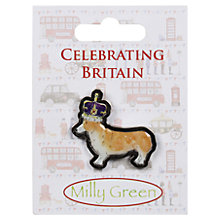 Buy Milly Green Royal Corgi Pin Badge Online at johnlewis.com