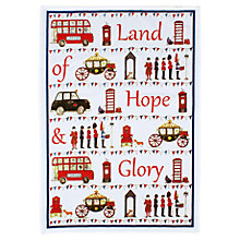 Buy Milly Green Land Of Hope And Glory Tea Towel Online at johnlewis.com