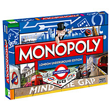 Buy London Underground Edition Monopoly Online at johnlewis.com