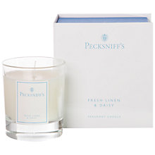 Buy Pecksniff's Linen and Daisy Candle Online at johnlewis.com