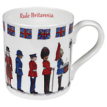 Buy Milly Green Rule Britannia China Mug Online at johnlewis.com