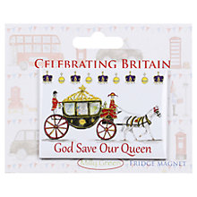 Buy Milly Green God Save Our Queen Fridge Magnet Online at johnlewis.com