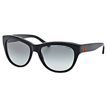 Buy Ralph Lauren RL8122 Oval Sunglasses, Black Online at johnlewis.com