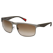 Buy Prada Linea Rossa SPS 56PS Sport Rubbermax Sunglasses, Gunmetal Online at johnlewis.com