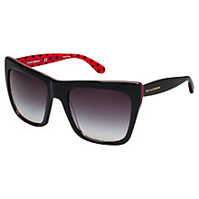 Buy Dolce & Gabbana DG4228 Square Sunglasses, Black/Red Online at johnlewis.com