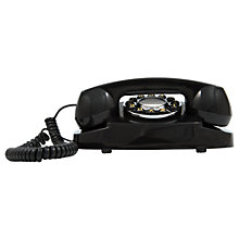 Buy GPO Audrey Retro Push Button Dialling Corded Phone, Black Online at johnlewis.com