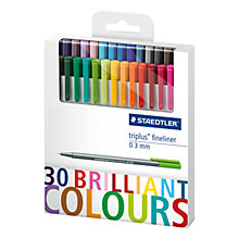 Buy Staedtler Fineliner Colouring Pens, Pack of 30 Online at johnlewis.com