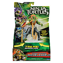 Buy Teenage Mutant Ninja Turtles Movie Combat Warrior Action Figure, Michelangelo Online at johnlewis.com