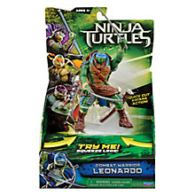Buy Teenage Mutant Ninja Turtles Movie Combat Warrior Action Figure, Leonardo Online at johnlewis.com