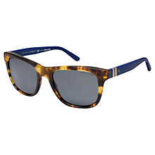 Buy Polo Ralph Lauren PH4090 Square Polarised Sunglasses, Matte Black Online at johnlewis.com