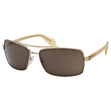 Buy Prada PR55QS Rectangular Framed Sunglasses Online at johnlewis.com