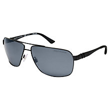 Buy Polo Ralph Lauren PH4085 Rectangular Sunglasses, Matte Black Online at johnlewis.com