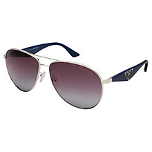 Buy Prada PR53QS Polarised Aviator Sunglasses Online at johnlewis.com