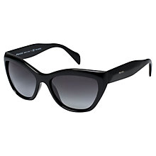 Buy Prada PR02QS Polarised Cat's Eye Sunglasses, Black Online at johnlewis.com