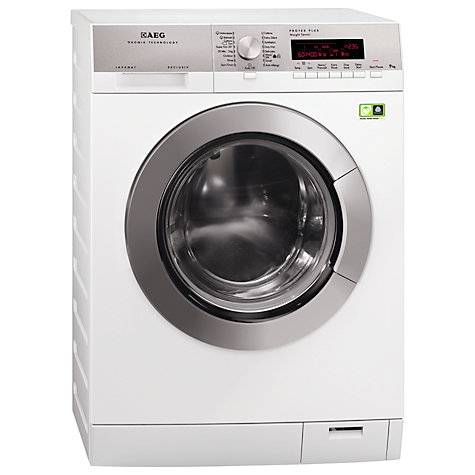 Buy AEG L89499FL ÖKOMix Washing Machine, 9kg Load, A+++ Energy Rating, 1400rpm Spin, White Online at johnlewis.com
