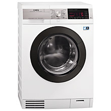 Buy AEG L99695HWD ÖKOKombi Plus Heat Pump Washer Dryer, 9kg Wash/6kg Dry Load, A Energy Rating, 1600rpm Spin, White Online at johnlewis.com