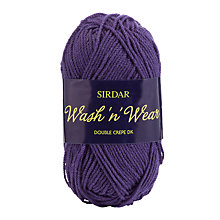 Buy Sirdar Wash 'n' Wear Double Crepe DK Yarn, 50g Online at johnlewis.com
