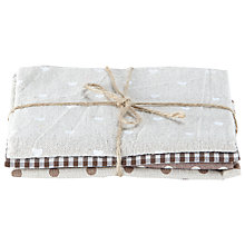 Buy Groves Fat Quarter, Pack Of 4, Naturals Online at johnlewis.com