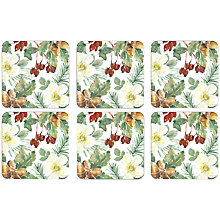 Buy John Lewis Winter's Eve Coasters, Set of 6 Online at johnlewis.com