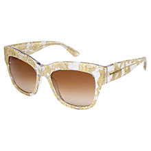 Buy Dolce & Gabbana DG4231 Square Frame Sunglasses, Gold Online at johnlewis.com