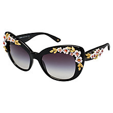 Buy Dolce & Gabbana DG4230 Cat's Eye Sunglasses, Black Online at johnlewis.com