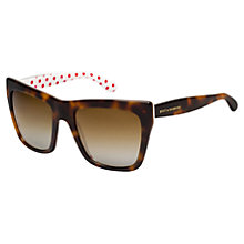 Buy Dolce & Gabbana DG4228 Square Plastic Frame Sunglasses, Havana/Red Online at johnlewis.com