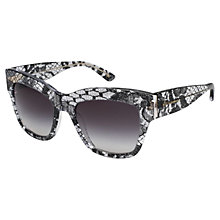 Buy Dolce & Gabbana DG4231 Square Plastic Frame Sunglasses, Black Online at johnlewis.com