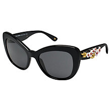 Buy Dolce & Gabbana DG4230 Butterfly Frame Sunglasses, Black Online at johnlewis.com