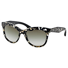 Buy Miu Miu MU10PS Diamanté Encrusted Sunglasses Online at johnlewis.com