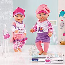 Buy Zapf Baby Born Classic Fashion Collection, Assorted Online at johnlewis.com