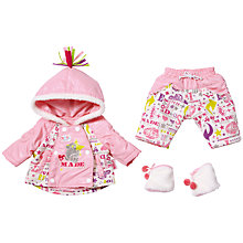 Buy Zapf Baby Born Deluxe Snowtime Outfit Set, Pink Online at johnlewis.com