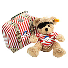 Buy Steiff Fynn Pirate Teddy Bear & Case Online at johnlewis.com