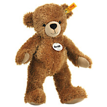 Buy Steiff Happy Teddy Bear, Brown, 40cm Online at johnlewis.com