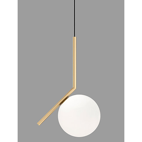 Buy Flos IC S1 Ceiling Light 20cm Brushed Brass